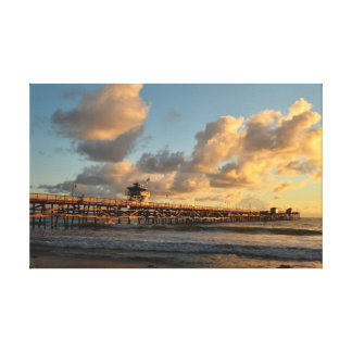 Evening at San Clemente Orange County California Stretched Canvas Print
