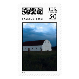 Evening at the barn at the barn postage