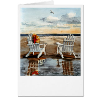Evening at the Beach Card