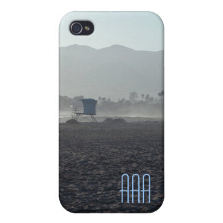 Evening at the Beach Initial Template Phone Case iPhone 4 Cases