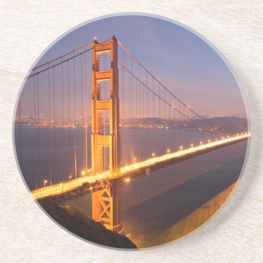 Evening at the Golden Gate Bridge coasters
