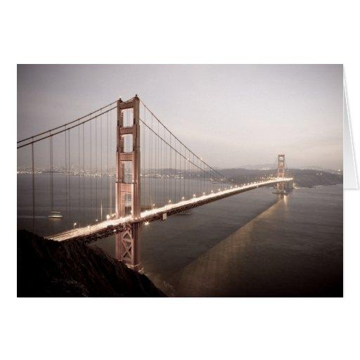 Evening at the Golden Gate Bridge greeting card