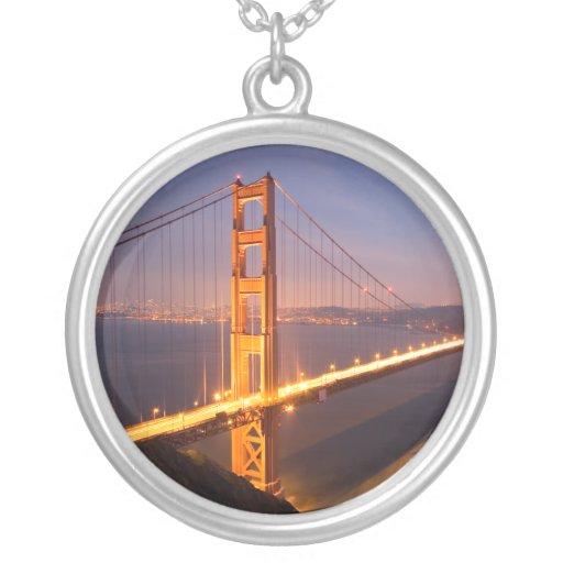 Evening at the golden gate bridge necklace zazzle for Golden gate bridge jewelry
