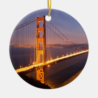 Evening at the Golden Gate Bridge ornaments