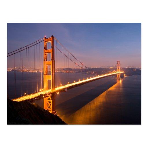 Evening at the Golden Gate Bridge Postcard