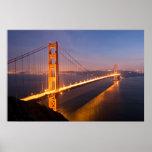 Evening at the Golden Gate Bridge print