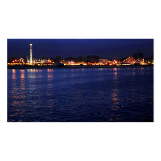 Evening at the Santa Cruz Boardwalk Double-Sided Standard Business Cards (Pack Of 100)