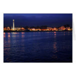 Evening at the Santa Cruz Boardwalk Stationery Note Card