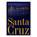 Evening at the Santa Cruz Boardwalk Greeting Card