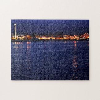 Evening at the Santa Cruz Boardwalk Jigsaw Puzzle