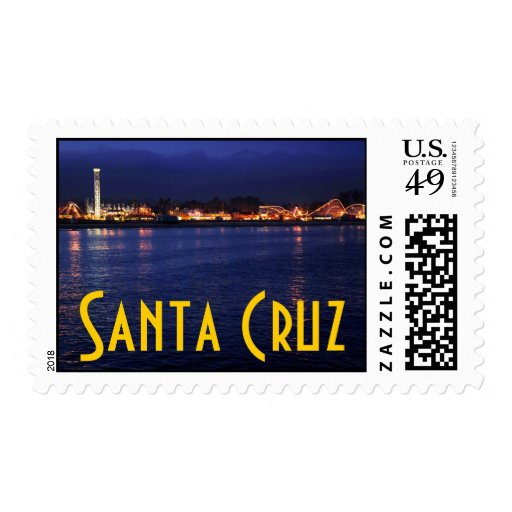Evening at the Santa Cruz Boardwalk Stamp