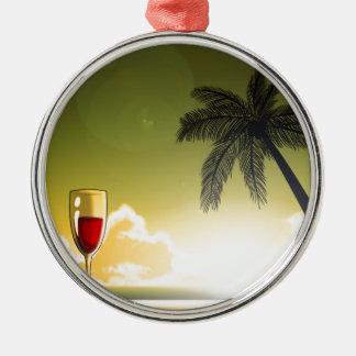 Evening Beach Metal Ornament