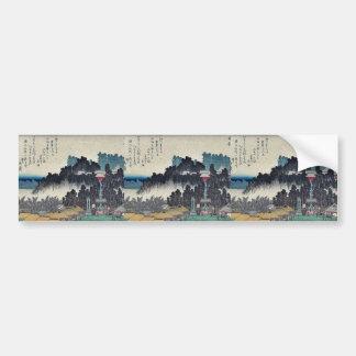 Evening bell at Ikegami by Ando, Hiroshige Ukiyoe Car Bumper Sticker