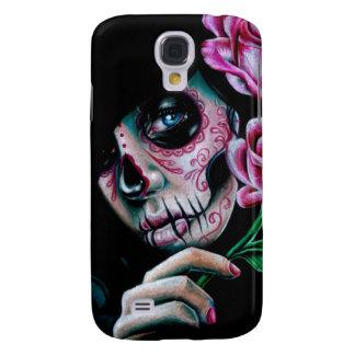 Evening Bloom Sugar Skull Girl Galaxy S4 Case