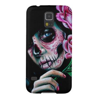 Evening Bloom Sugar Skull Girl Galaxy S5 Cover