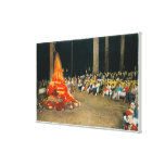 Evening Bonfire at Giant Forest Lodge Canvas Print