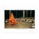 Evening Bonfire at Giant Forest Lodge Postcard