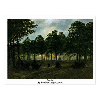 Evening By Friedrich Caspar David Postcards