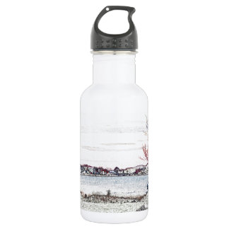 Evening By The Pond Stainless Steel Water Bottle