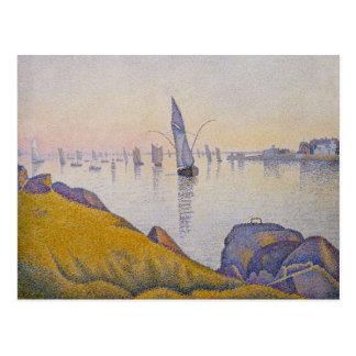 Evening Calm Concarneau Opus 220 - Paul Signac Postcards