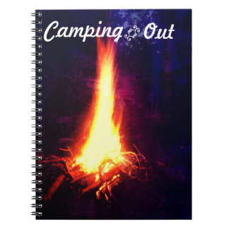 Evening Campfire Camping Out Notebook