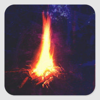 Evening Campfire Square Sticker