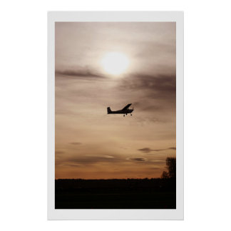 Evening Cessna 182 Posters