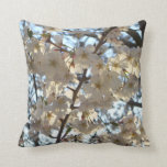 Evening Cherry Blossoms I Spring Tree Throw Pillow