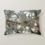 Evening Cherry Blossoms II Flowering Spring Tree Accent Pillow
