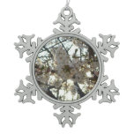 Evening Cherry Blossoms II Flowering Spring Tree Snowflake Pewter Christmas Ornament