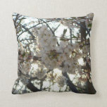 Evening Cherry Blossoms II Flowering Spring Tree Throw Pillow