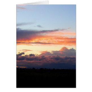 evening clouds card