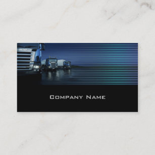 Trucking business cards templates zazzle evening color blue truck business card colourmoves