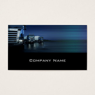 Evening Color Blue Truck Business Card