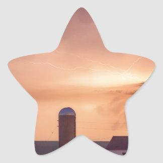 Evening Country Storm Star Sticker