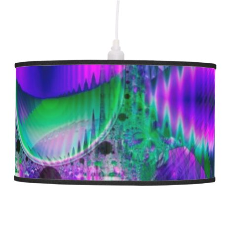 Evening Crystal Primrose, Abstract Night Flowers Ceiling Lamp
