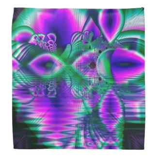 Evening Crystal Primrose, Abstract Night Flowers Bandannas
