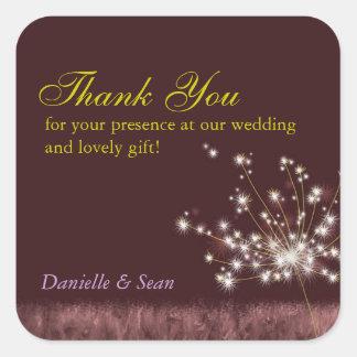 Evening Dandelions Fall Wedding Thank You Sticker