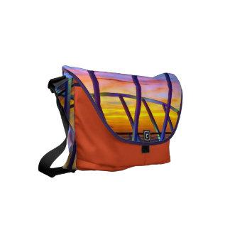 Evening Delight No. 3 Orange Small Messenger Bag