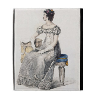 Evening dress, fashion plate from Ackermann's Repo iPad Cases