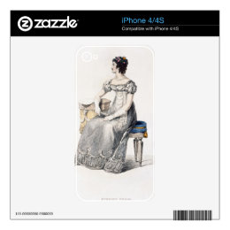 Evening dress, fashion plate from Ackermann's Repo Skins For iPhone 4