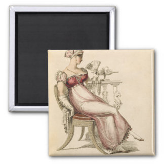 Evening dress or ball gown, fashion plate from Ack Magnet