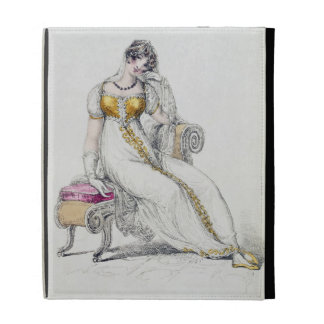 Evening dress or wedding dress, fashion plate from iPad folio cover