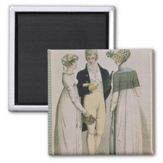 Evening Dresses for illustration 2 Inch Square Magnet