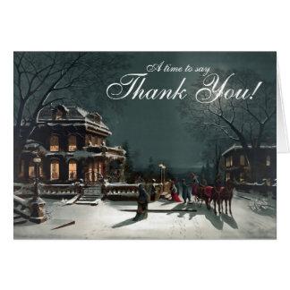 Evening Elegance Imprinted Business Holiday Card