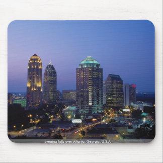 Evening falls over Atlanta, Georgia, U.S.A. Mouse Pad