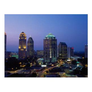 Evening falls over Atlanta, Georgia, U.S.A. Post Card