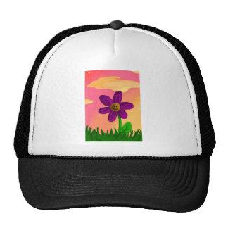 Evening flower trucker hat
