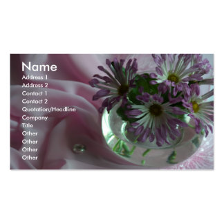evening flowers business cards