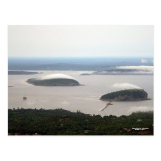 Evening Fog on Bar Harbor Islands Postcard
